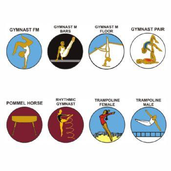 Gymnastics pk of 5 25mm centres-